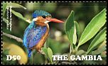 Cl: Malachite Kingfisher (Alcedo cristata)(Repeat for this country) (I do not have this stamp)  new (2015)