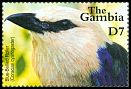 Cl: Blue-bellied Roller (Coracias cyanogaster)(Repeat for this country)  SG 4168 (2001)