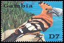 Cl: Eurasian Hoopoe (Upupa epops)(Repeat for this country)  SG 4152d (2001)