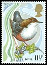 Cl: White-throated Dipper (Cinclus cinclus) SG 1110 (1980) 40