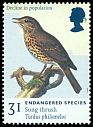 Cl: Song Thrush (Turdus philomelos)(Repeat for this country)  SG 2017 (1998) 80