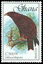 Cl: Black Kite (Milvus migrans) SG 1397 (1989) 250