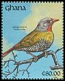 Cl: Green-winged Pytilia (Pytilia melba) SG 1582 (1991) 0