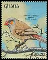 Cl: Orange-cheeked Waxbill (Estrilda melpoda) SG 1583 (1991) 0