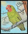 Cl: Red-headed Lovebird (Agapornis pullarius) SG 1588 (1991) 0