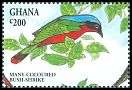 Cl: Many-coloured Bushshrike (Telophorus multicolor) SG 1978 (1994) 60