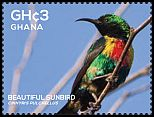 Cl: Beautiful Sunbird (Cinnyris pulchella)(I do not have this stamp)  SG 3854d (2015)