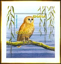 Cl: Rufous Fishing-Owl (Scotopelia ussheri) SG 3341a (2002) 475
