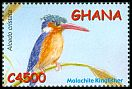 Cl: Malachite Kingfisher (Alcedo cristata) SG 3337a (2002) 150