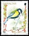 Cl: Great Tit (Parus major) SG 732 (1994) 80