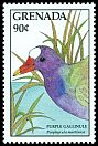Cl: Purple Gallinule (Porphyrio martinica)(Repeat for this country)  SG 1766 (1988) 100