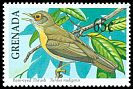 Cl: Bare-eyed Thrush (Turdus nudigenis)(Endemic or near-endemic)  SG 2158 (1990) 75