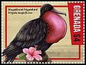 Cl: Magnificent Frigatebird (Fregata magnificens)(Repeat for this country) (I do not have this stamp)  new (2016)