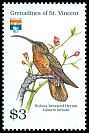 Cl: Rufous-breasted Hermit (Glaucis hirsuta)(Out of range)  SG 860 (1992)