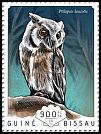 Cl: Northern White-faced Owl (Ptilopsis leucotis)(I do not have this stamp)  new (2014)