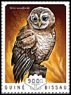 Cl: African Wood-Owl (Strix woodfordii)(I do not have this stamp)  new (2014)