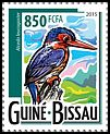 Cl: White-bellied Kingfisher (Alcedo leucogaster)(I do not have this stamp)  new (2015)