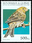 Cl: Island Canary (Serinus canaria)(Out of range and no other stamp)  SG 1631 (1995) 60