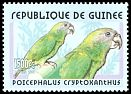 Cl: Brown-headed Parrot (Poicephalus cryptoxanthus)(Out of range and no other stamp)  new (2001)