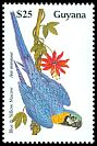 Cl: Blue-and-yellow Macaw (Ara ararauna) SG 2677 (1990) 140