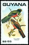 Cl: Collared Trogon (Trogon collaris) SG 2763 (1990)