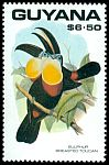 Cl: Channel-billed Toucan (Ramphastos vitellinus)(Repeat for this country)  SG 2769 (1990)