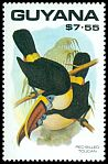Cl: Red-billed Toucan (Ramphastos tucanus) SG 2770 (1990) 0