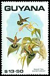 Cl: Band-tailed Barbthroat (Threnetes ruckeri)(Out of range and no other stamp)  SG 2778 (1990)