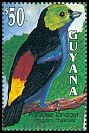 Cl: Paradise Tanager (Tangara chilensis)(Repeat for this country)  SG 3489 (1993)