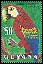Cl: Scarlet Macaw (Ara macao)(Repeat for this country)  SG 3491 (1993)