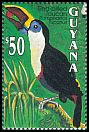 Cl: Red-billed Toucan (Ramphastos tucanus)(Repeat for this country)  SG 3493 (1993)