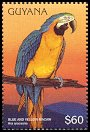 Cl: Blue-and-yellow Macaw (Ara ararauna)(Repeat for this country)  SG 4730 (1996)