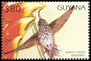 Cl: White-tipped Sicklebill (Eutoxeres aquila)(Out of range and no other stamp)  SG 5130 (1997)
