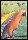 Cl: Red-and-green Macaw (Ara chloroptera)(Repeat for this country)  SG 5651 (1999)