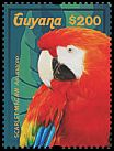 Cl: Scarlet Macaw (Ara macao)(Repeat for this country) (I do not have this stamp)  new (2015)