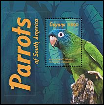 Cl: Blue-crowned Parakeet (Aratinga acuticaudata)(Out of range and no other stamp) (I do not have this stamp)  new (2015)