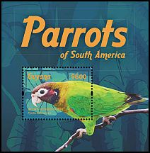 Cl: Brown-hooded Parrot (Pionopsitta haematotis)(Out of range and no other stamp) (I do not have this stamp)  new (2015)