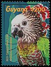 Cl: Red-fan Parrot (Deroptyus accipitrinus)(Repeat for this country) (I do not have this stamp)  new (2015)