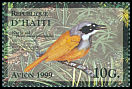 Cl: Grey-crowned Palm-Tanager (Phaenicophilus poliocephalus) <<Kat je sid>>  SG 1642 (1999)