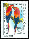 Cl: Scarlet Macaw (Ara macao)(Repeat for this country)  SG 1614 (2001)
