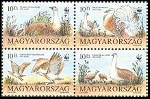 Cl: Great Bustard (Otis tarda)(Repeat for this country)  SG 2179-82 (1994) 110