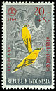 Cl: Black-naped Oriole (Oriolus chinensis) <<Kepodang>>  SG 1025 (1965) 30