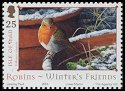 Cl: European Robin (Erithacus rubecula)(Repeat for this country)  SG 1185 (2004)
