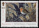 Cl: European Robin (Erithacus rubecula)(Repeat for this country)  SG 1187 (2004)