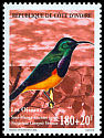 Cl: Variable Sunbird (Cinnyris venustus) <<Souimanga &agrave; ventre jaune>>  SG 1208 (1999) 130