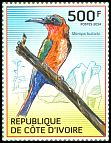 Cl: Red-throated Bee-eater (Merops bulocki) new (2014)  [9/9]