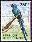 Cl: Green Woodhoopoe (Phoeniculus purpureus)(I do not have this stamp)  new (2014)