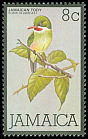 Cl: Jamaican Tody (Todus todus) <<Robin redbreast>>  SG 467 (1980) 40