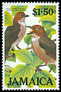 Cl: White-eyed Thrush (Turdus jamaicensis) SG 644 (1986)