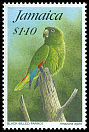 Cl: Black-billed Parrot (Amazona agilis)(Endemic or near-endemic)  SG 870 (1995)